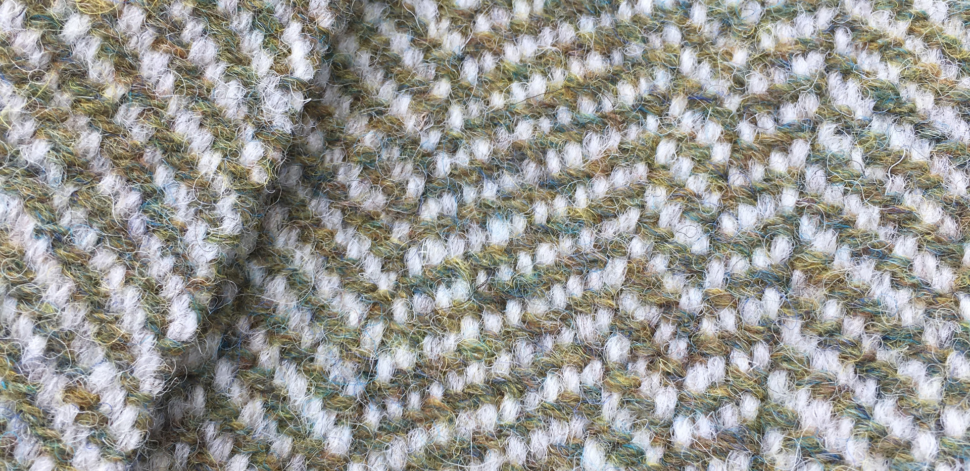 One Solid Color, White Wool Warp, Northern Moss