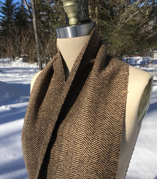 One Solid Color, Black Sheep's Wool Warp, Camel