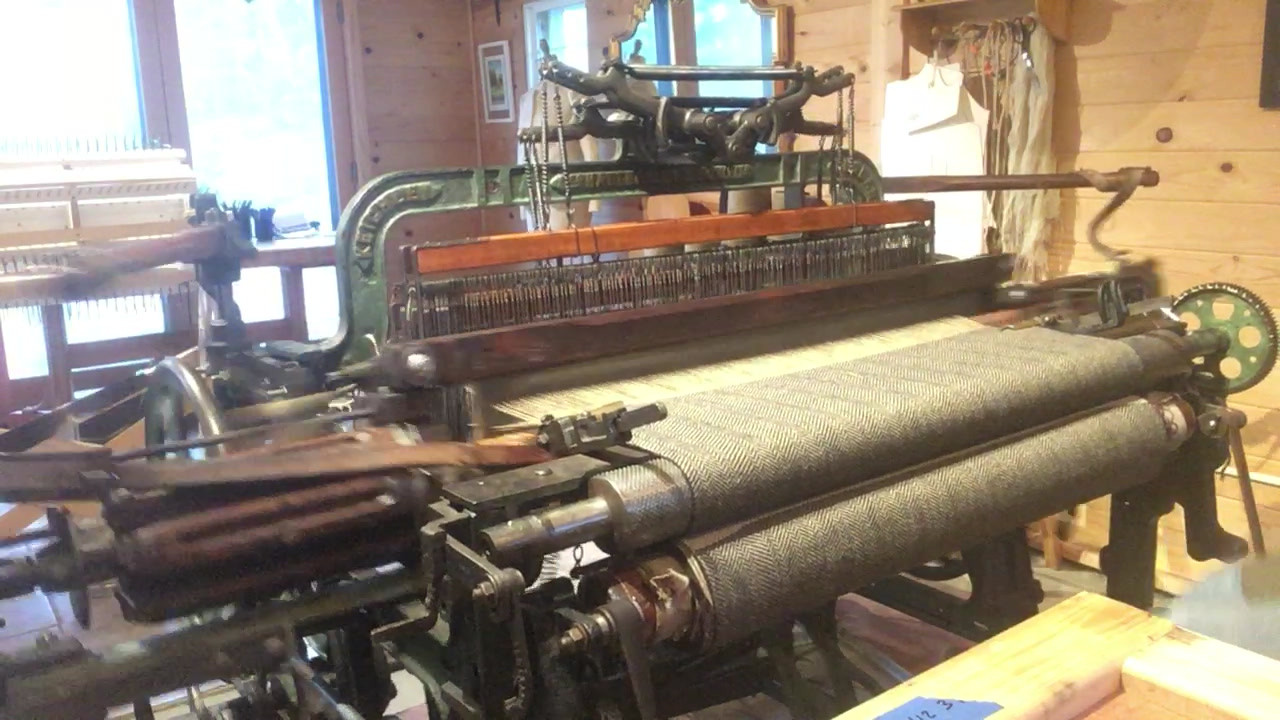 Video of your shawl being woven on the Hattersley loom!