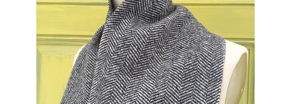 One Solid Color, Slate, White wool warp