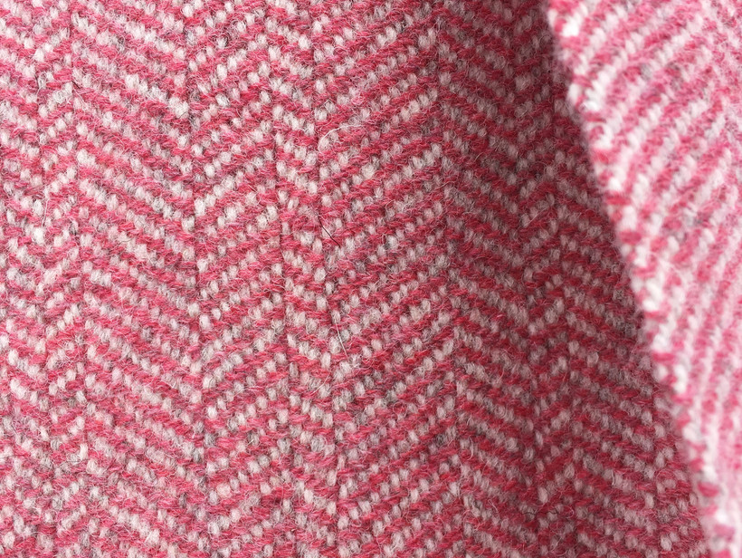 Solid Color, White Wool Warp, Pink