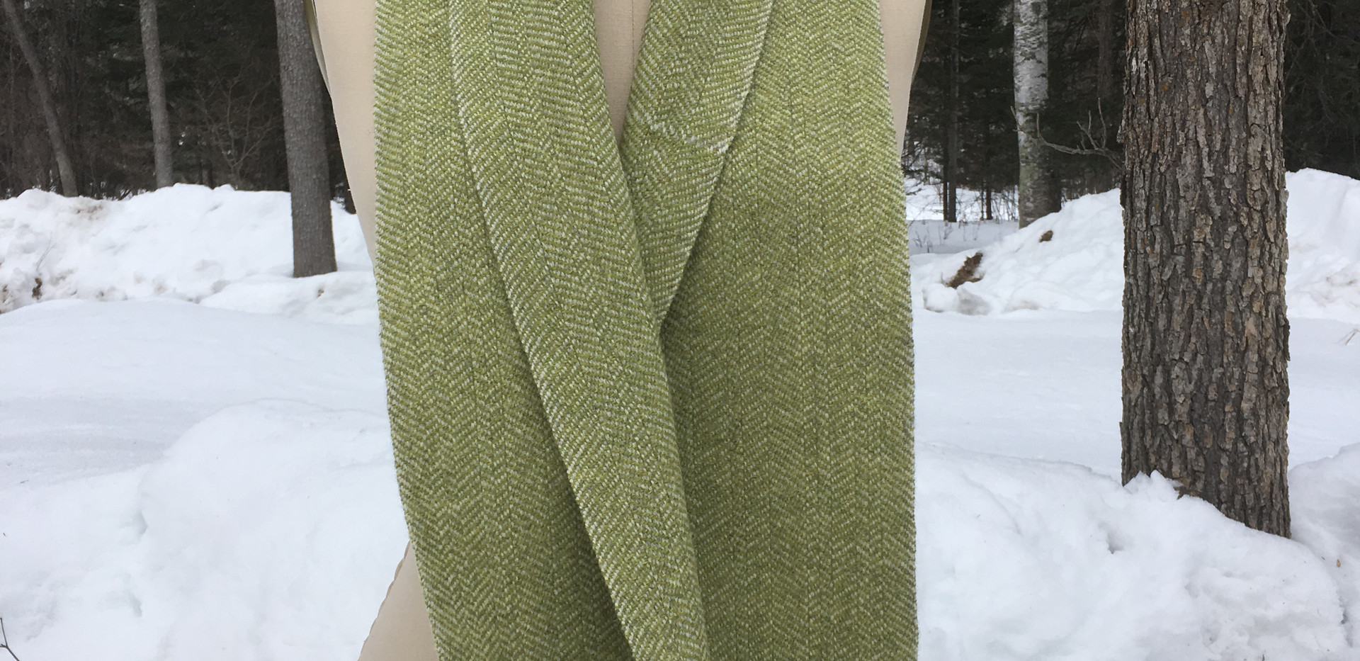 One Solid Color, White Sheep's Wool Warp, Hopper Lopper