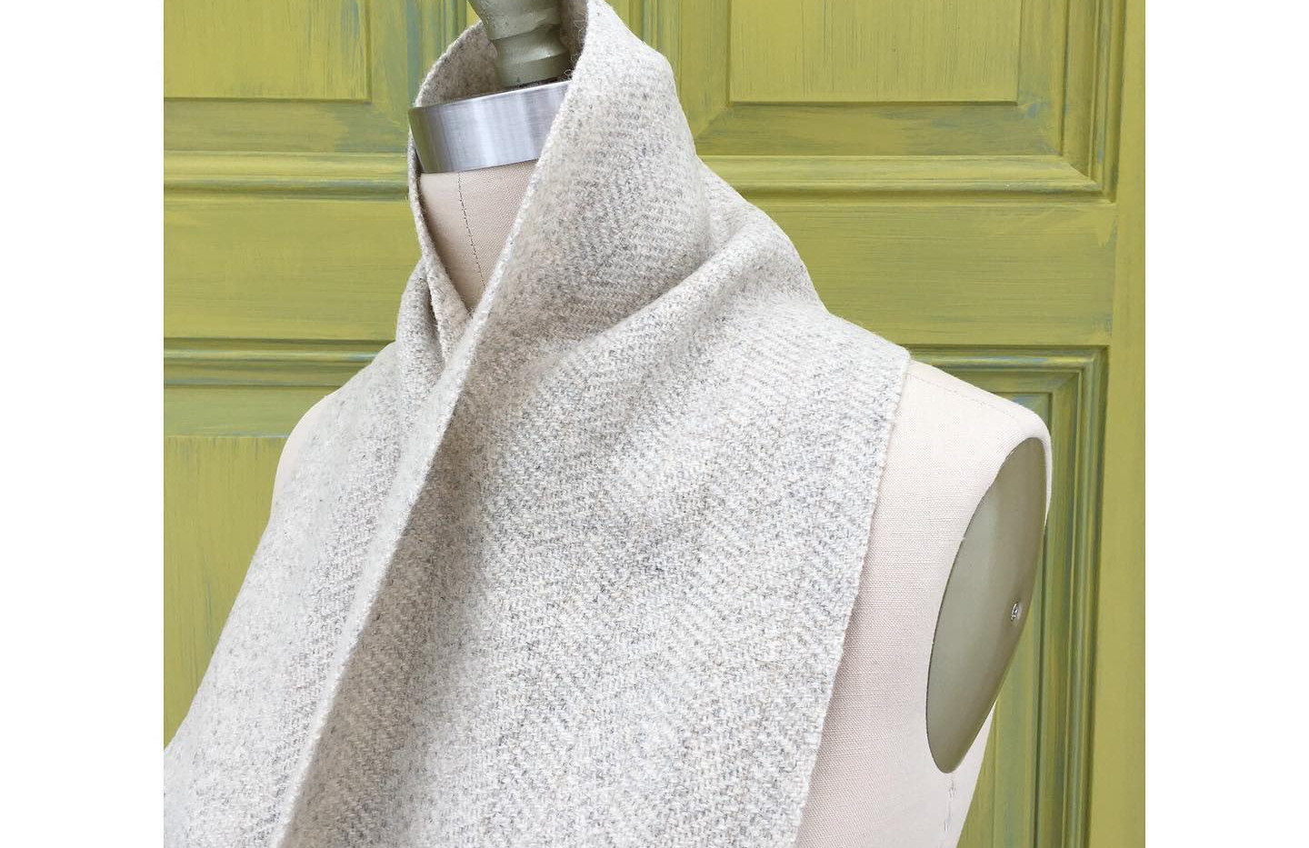 One Solid Color, White Sheep's Wool Warp, Cream
