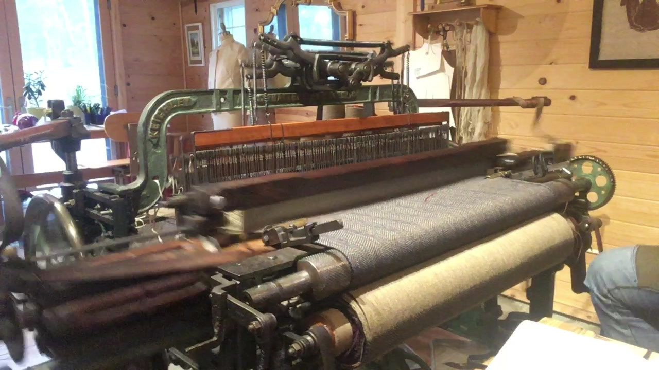 Your shawl being woven!