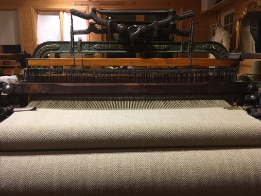 At the Hattersley loom, currently weaving your shawl!