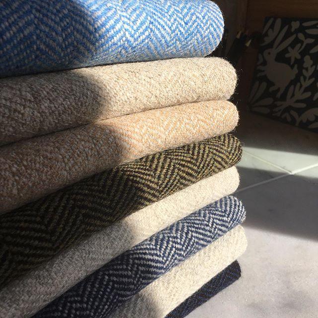Both White wool warp and Black sheep's wool warp scarves