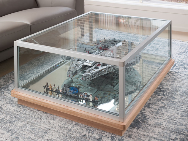 Glass Timber Display Coffee Table