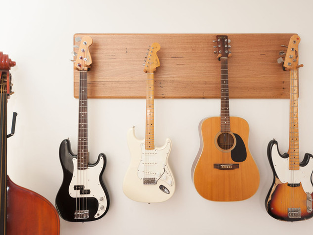 Wormy Chestnut Guitar Wall Mount