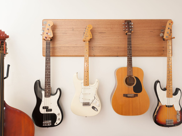 Wormy Chestnut Timber Guitar Wall Mount