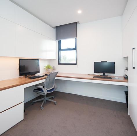 Custom Corner Desk and Foldaway bed