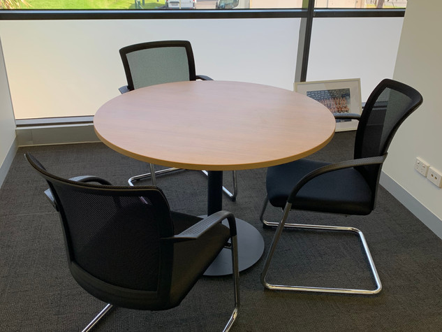 Small Meeting Table and Cantilever Chairs