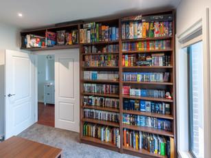 Bookcase over doorway