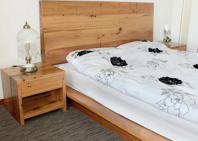 Recycled Timber Bed and Bedside