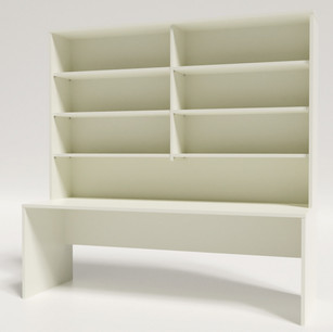 Desk 2100 x 750 With Hutch 2100H no doors