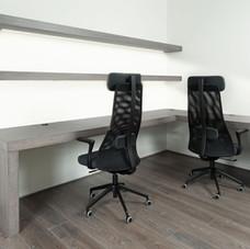 Corner Desk and Shelving