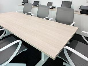 Boardroom Height Adjustable Table & Marics Chairs