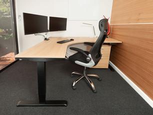 Height Adjustable Corner Office Desk