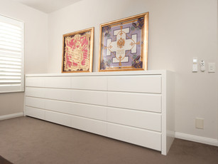 Long Matte White Bedroom Buffet