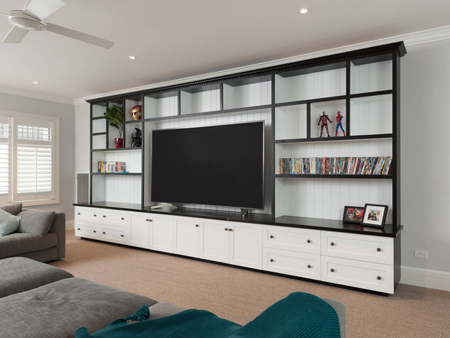 White & Black Entertainment Unit
