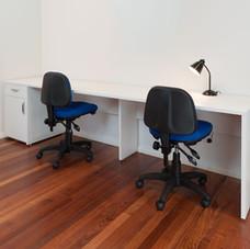 White Side-by-Side Desk