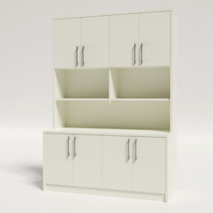 1500L Credenza/Buffet and Hutch 1380H With Doors