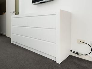 Gloss White Bedroom Dresser