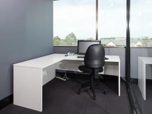 Corner White Office Desk