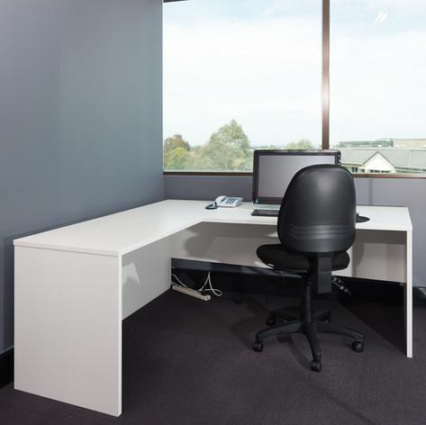 Corner White Desk