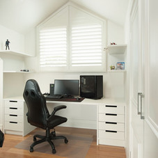 Fitted White Desk
