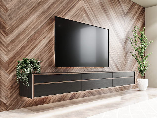American Black Walnut and American Oak entertainment unit