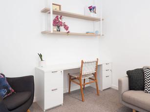Desk in psychologist office