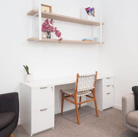 Desk in psychologist ofice