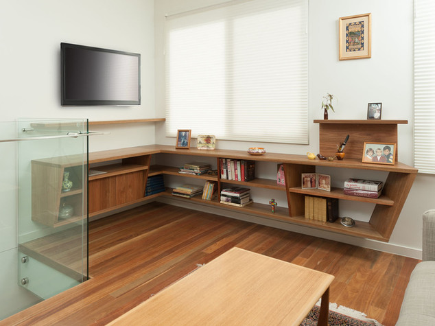 Floating Corner TV Unit & Storage