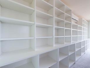 White Laminate Bookcase Storage
