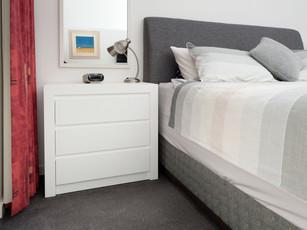 Gloss White Bedside Table