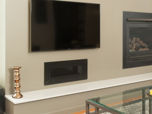 Wall Integrated DVD Player Storage