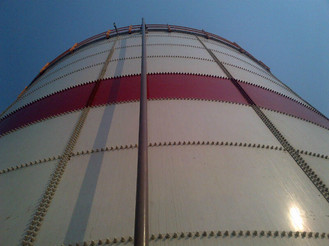 Bolted Cylindrical Epoxy Coated Fire Water Tank