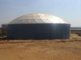 Fire Water Storage Tank,  Aluminium Geodesic Dome