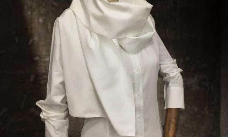 Şal yakalı gömlek