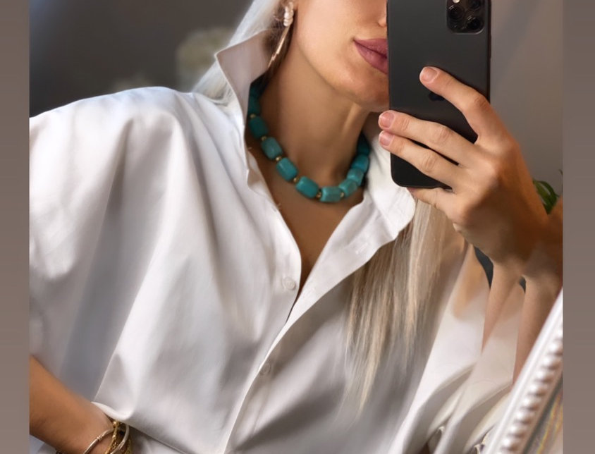 Yarasa Kol Oversize Gömlek