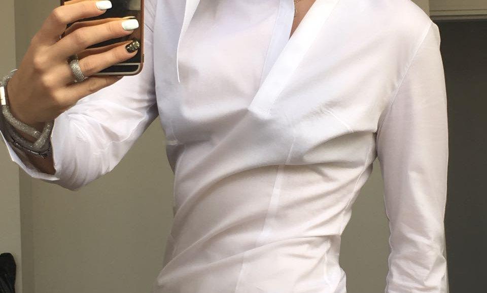 Tek Yanı Sivri Yakalı Gömlek