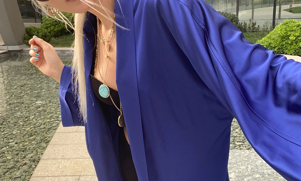 Sax Mavi Kimono