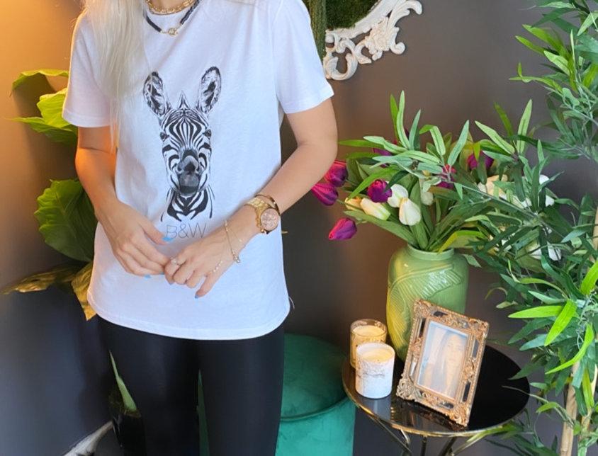 Zebra Baskılı Tshirt