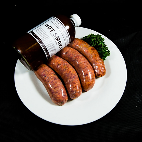 Texas BBQ Beef, Smoky and Saucy Sausages 500g (approx. 6pcs)