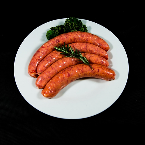 Organic Thin Beef Sausages 500g (approx. 6pcs)