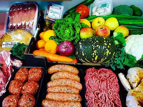 Large Organic Fruit, Veg and Meat Fresh Box