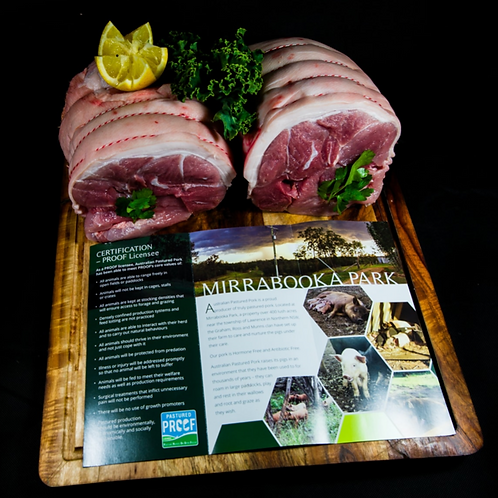 Free Range Boneless Pork Shoulder Roast 2.5kg