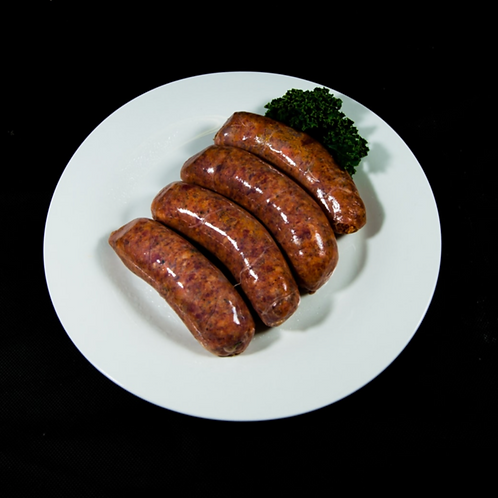 Beef, Pear, Caramelized Onion and Fresh Mushroom Sausages 500g (approx. 6pcs)