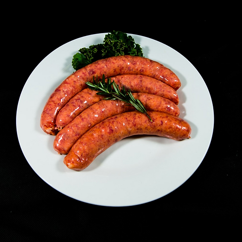 Paleo Beef, Nut free, Gluten Free, Grain Free Sausages 500g (approx. 6pcs)