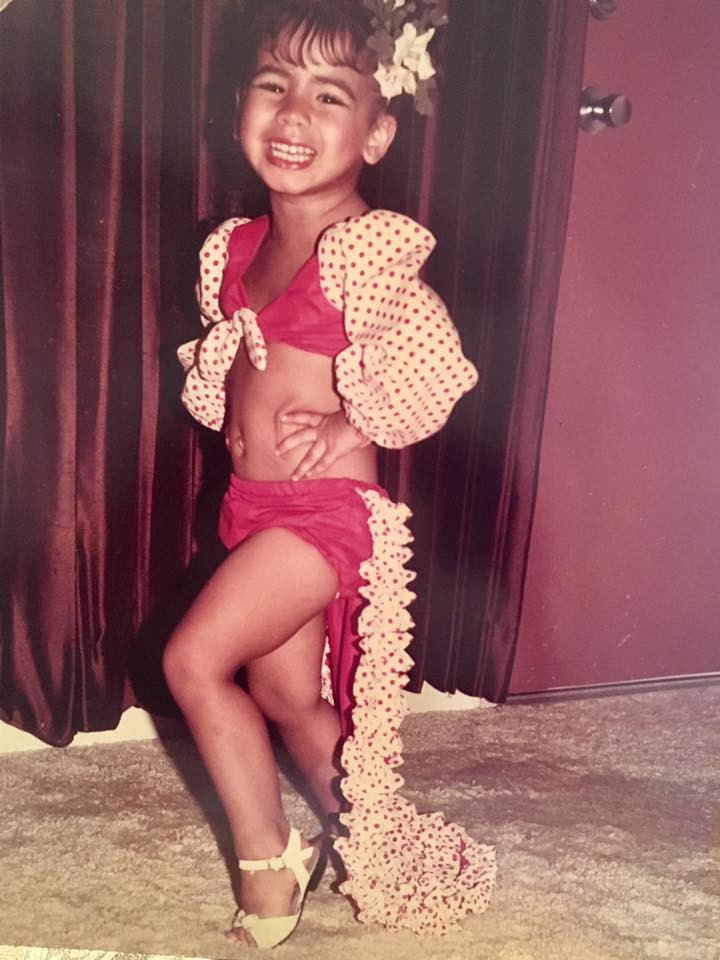 Little Me as  a Cuban Rumbera